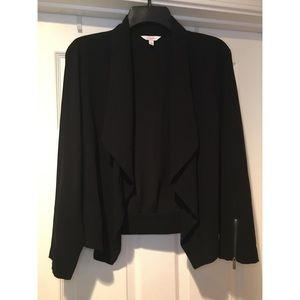 CANDIE'S Draped Open-Front Jacket XL